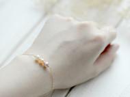 14K包金三色天然珍珠优雅气质手链