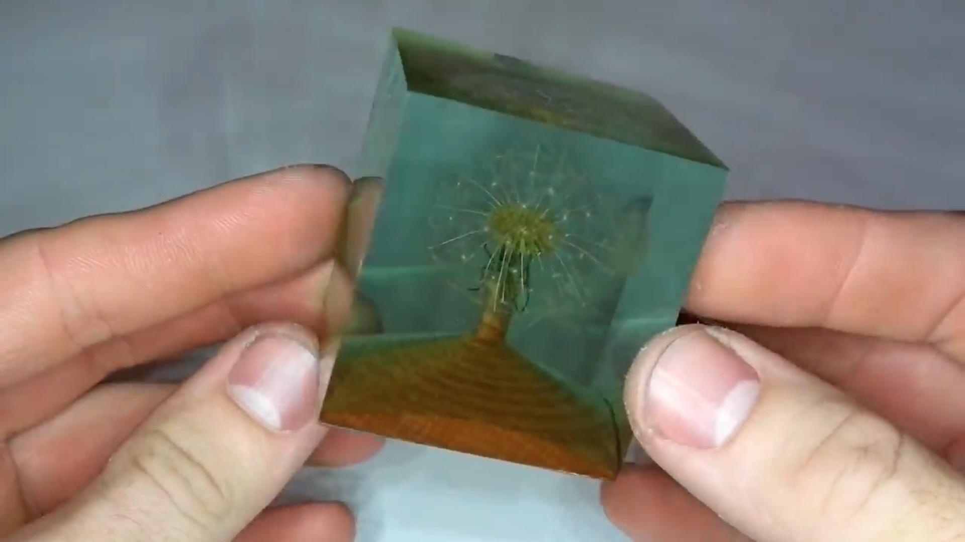 艺术树脂( DIY Art Resin ):蒲公英滴胶镇纸/摆件
