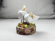 木艺小鸟窝鸟巢家居桌面装饰摆件模型摄影道具结婚节生日创意礼物