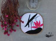 手工花式杯垫,看看花,喝喝茶吧~