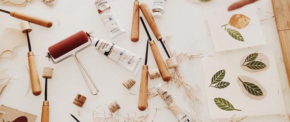 """亚麻油毡雕刻与插画,俄罗斯""""Ия и Миша Гаас""""设计工作室作品"""