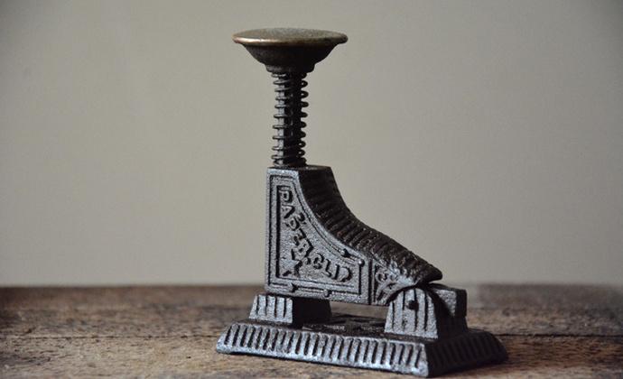 古董 铸铁老订书机