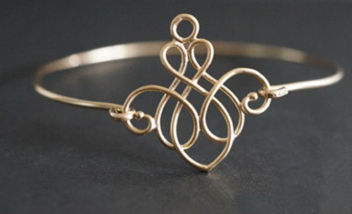 日系本土复古花纹手环