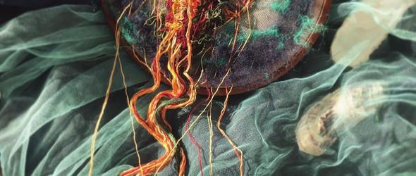 浮游在薄纱上的刺绣水母 | Yuliya Kucherenko