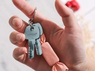 蠢小鱼 可爱牛皮钥匙扣