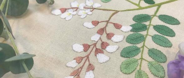 四时春色 | 韩国手工艺人@ggoomso(Juyeong Kim)的野花刺绣