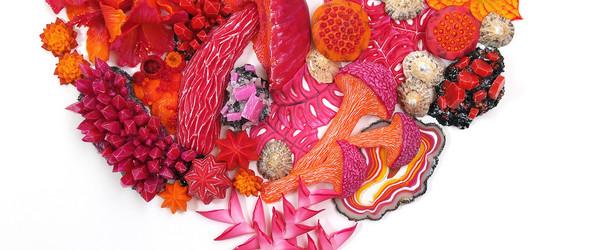 #视频#法国软陶艺术家 Stephanie Kilgast 分享的热带植物与花卉软陶雕塑过程