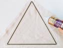 三角形的戳戳绣装饰物DIY教程