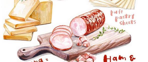 台湾插画师 Connie Au 的手绘美食(含过程)