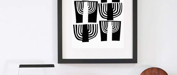 抽象简约的家居版画:版画师Dee Beale作品集