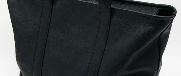 细节完美的黑色皮革手提袋的制作过程和教程
