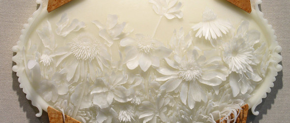 如梦似幻的植物浮雕 | 美国艺术家 Jolynn Krystosek 的蜡雕与纸雕
