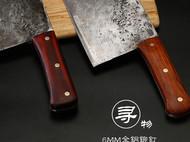 Almazan野外厨房丛林烹饪老头圆头厨刀阿尔马桑米其林定制铁菜刀