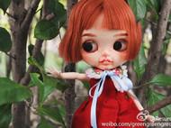 +LEAVES+系列春季红裙for Blythe