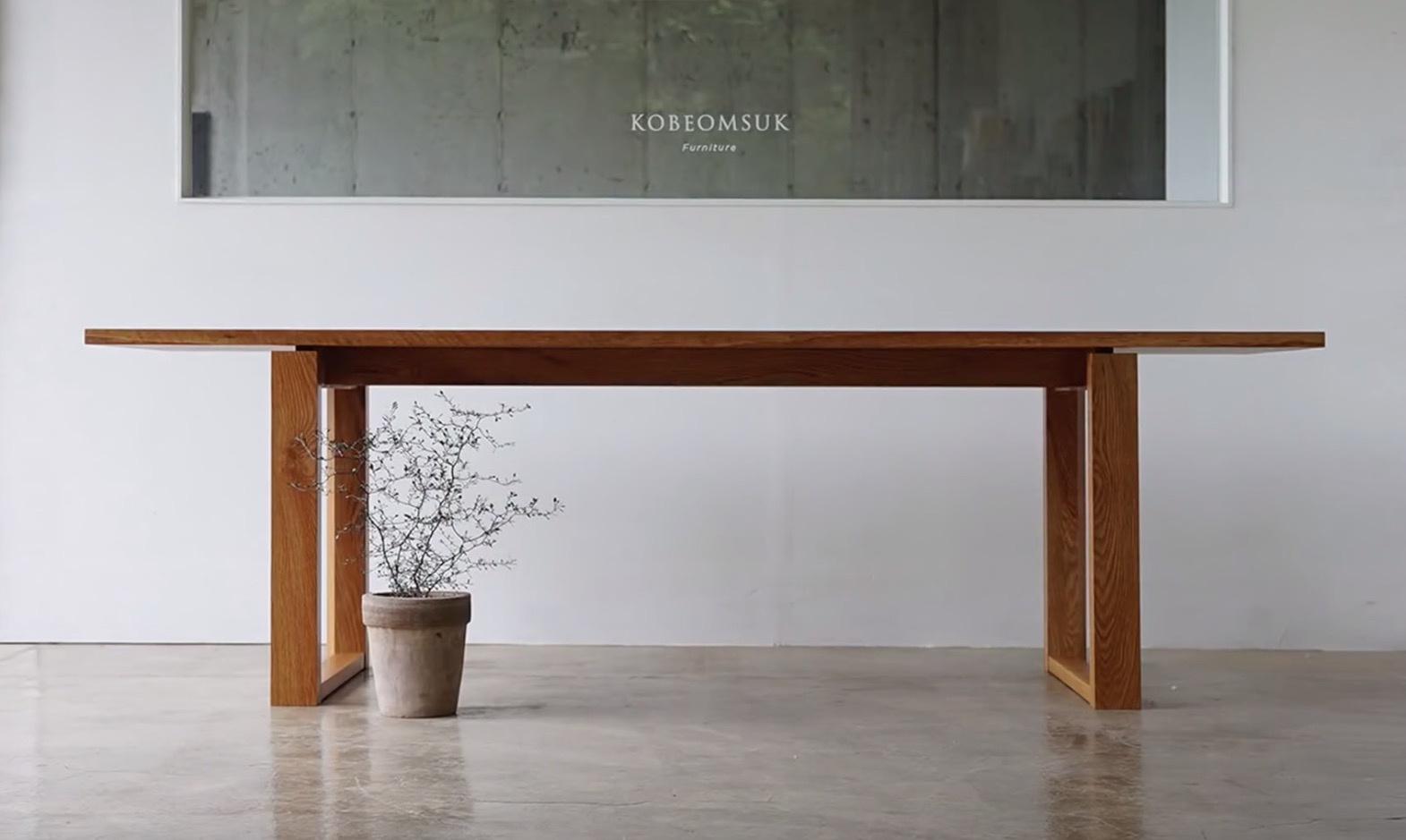简约的白橡木条桌 | 木工制作视频