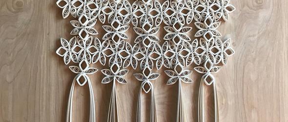 没看错,使用回收纸手工制作的壁挂 -美国室内设计师 Griffin Carrick 作品