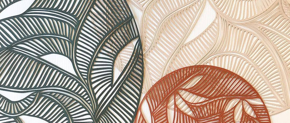 Little Detroit:抽象几何风格的剪纸装饰画