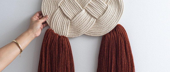 简单而美丽的结绳/绳编墙挂 |The Knotted