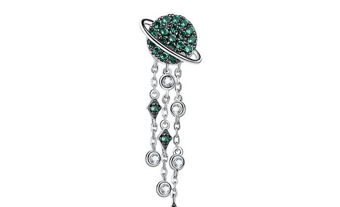 CAMBAS刊芭思 法式设计流苏耳线长款单个 925纯银气质耳链耳环女