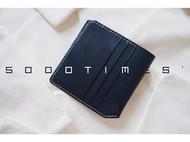 5000TIMES'手工皮具-片叶系列 钱包 卡包 英国马缰革 宝蓝色