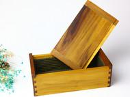 WOODIN实木传统榫卯格调原创意手工艺礼品首饰收纳盒金丝楠石拱桥