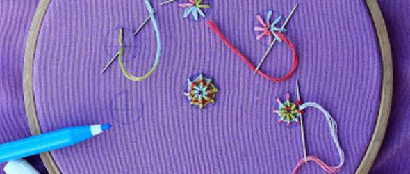 19种常见刺绣针法示范