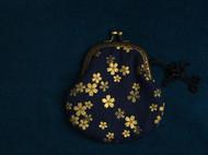 【囡囡手作】手工复古日本和风樱花烫金全棉口金包零钱包硬币包