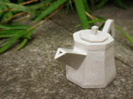 透明釉几何茶具