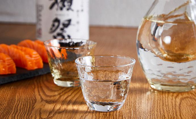 日本进口东洋佐佐木和风锤目纹玻璃茶杯/和风品茗杯/功夫茶杯