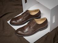 定制大码高档品牌男鞋正装皮鞋真皮布洛克雕花英伦商务德比鞋男士