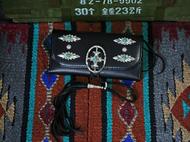 集点手作坊 手工皮具 goro's 高桥吾郎复刻 松石银扣 长财布钱包