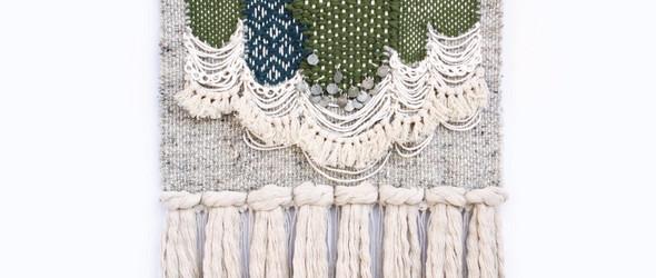 温暖色彩与独特纹理的手工挂毯 - Lindsey Campbell