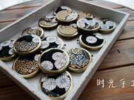 时光手工 NIの原创日本西阵织双面镜生日会伴手礼