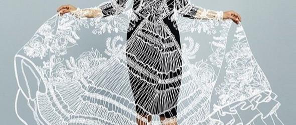 艺术家 Ilias Walchshofer 以轻盈的白色线条,再创作像剪纸的魅惑时尚插图