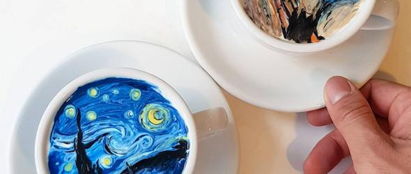 当咖啡邂逅艺术——Lee Kang-bin以咖啡再现艺术杰作
