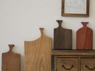 良造木器 樱桃木手作砧板 吐司寿司托盘花梨木黑胡桃木面包板砧板