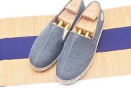 手工男鞋 中式设计三色草编牛筋底亚麻鞋