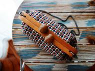 时光手工 NIの原创 纯手工缝制小香风链条包