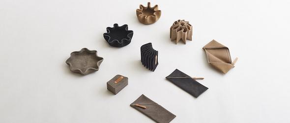 将折纸融合到皮具设计之中,日本手工品牌 i ro se 作品集