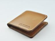 【褐色】真皮短钱包 原创 LINE ARTISANAL 手工 复古钱夹