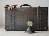 老箱子 老手提箱 老铁皮拉手