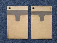 新做的水洗牛皮纸卡包