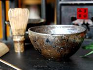 传统龙窑柴烧的抹茶碗
