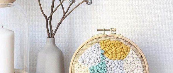 法国设计师 Julie Robert 的戳绣与挂毯