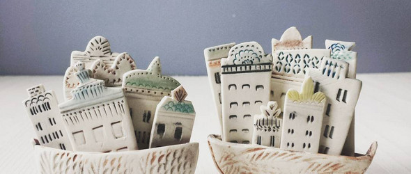 vanessa villarreal - 手工制作具有雕塑感的陶瓷餐具和摆件
