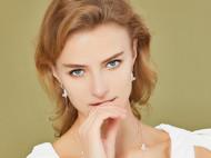 CAMBAS刊芭思 简约耳饰品 气质长款耳坠女不对称精致超仙纯银耳环