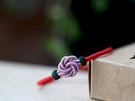 曼陀罗花结手绳红绳同心结男女式情侣手链金刚结