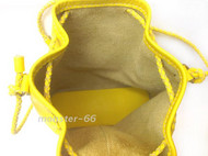 monster-66手缝牛皮柠檬黄水桶包接受订制