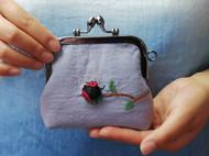 【24节气系列之——惊蛰】纯手工立体刺绣零钱包