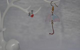 【热缩片】耳饰(雨伞)